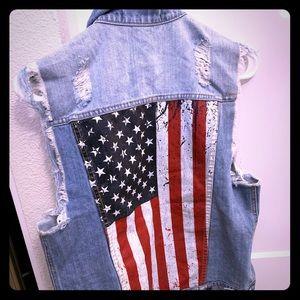 Jessie James Decker Kittenish Denim American Flag